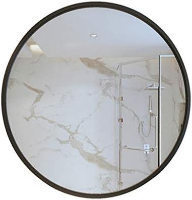 寝室/浴室/居間の装飾的で簡潔な方法のための壁に取り付けられたミラーの円形の直径40/50/60 / 70cmの黒い金属フレーム