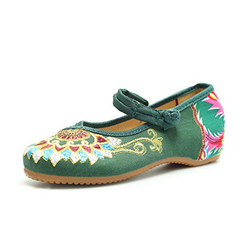 Embroidered Flats Shoes Women