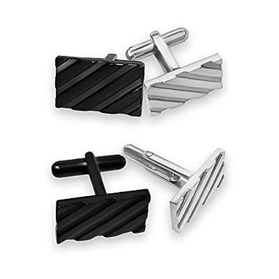 Cufflinks for Mens Shirt-Stainless Steel Fashion Jewelry Set with case/Designer cufflink, groomsmen gifts