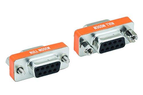 Cablelera ZAGA2311FF DB9 Female to DB9 Female Null Modem Mini Type Adaptor