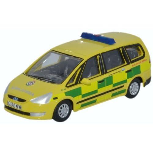 Ford Galaxy, London Ambulance Service, 0, voiture miniature, Miniature déjà montée, OxFord 1:76
