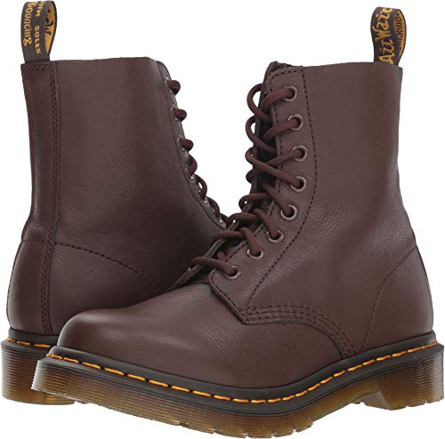 Dr. Martens Women's 1460 Pascal Mid Calf Boot, Dark Brown, 9 M UK (11 US)