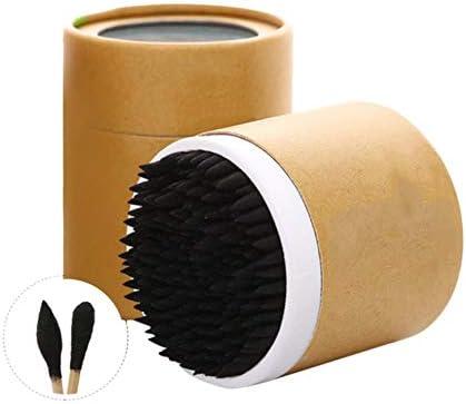 2019 Nuevo diseño Útil 200pcs / Box Bastoncillos de hisopos de algodón Bastones Negro Bambú Suave Orejas limpias Herramientas de Doble Cabeza con Funda de hisopos, WWG2778: Amazon.es: Hogar