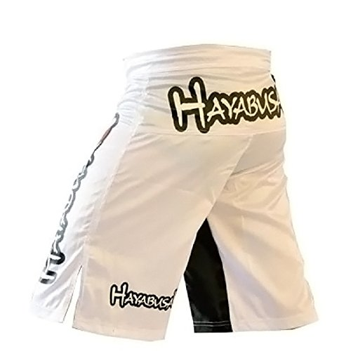 BD Mens MMA Muay Thai Fight Boxing Trunks Black and White