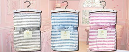 Northpoint Lullaby Kids Stripe Velvet Plush Baby Blanket, 30x40, ()