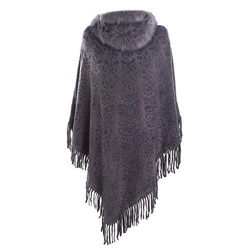 - LISTHA Fur Collar Cashmere Scarf Shawl Women Street Style Sleeve Warm Cardigan