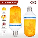 Tankard LED Flame Effect Light Bulbs E26 E27 4 Modes with Gravity Induced Decorative Light Fire Flickering Atmosphere Lighting Vintage Flaming Lamp for Holiday Hotel/Bar/Party/Home (4W 2Pcs)