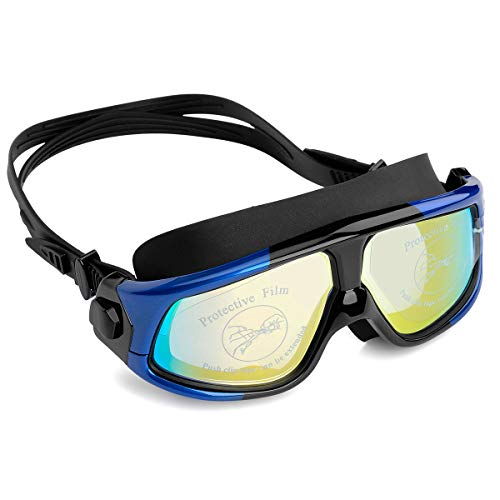 NIAFEYA ProfessionalSwim Goggles,Anti Fogging Waterproof and Ultraviolet Protection Wide View Swim Goggles for Women,Men and Younth