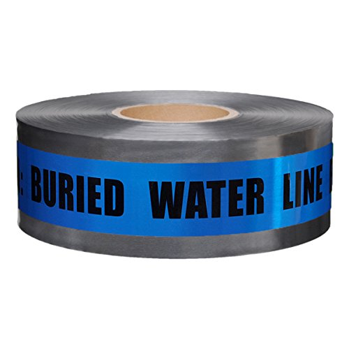 Presco Underground Detectable Warning Tape: 3 in. x 333.3 yds. (Blue with Black''CAUTION: BURIED WATER LINE BELOW'' printing) by Presco
