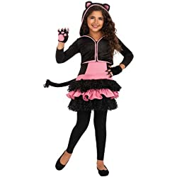 Rubies Costumes Black Kitty Hoodie Child Costume Black Medium (8-10)