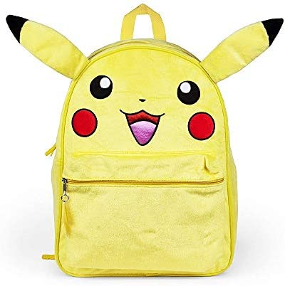 """Pokemon Toddler Backpack with Ears Pikachu 10/"""" Book Bag"""