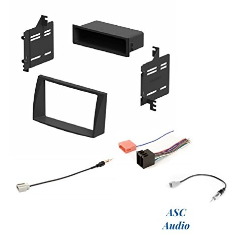 ASC Audio Car Stereo Install Dash Kit, Wire Harness, Antenna Adapter Combo for Installing an Aftermarket Radio for 2009 2010 Hyundai Sonata ()