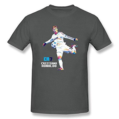 AzonLD Men's Cristiano Ronaldo CR7 Soccer WPAP Short Sleeve T-shirt