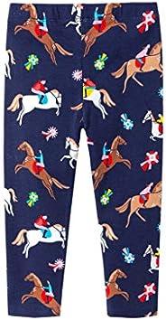 KONFA Teen Kids Toddler Baby Boys Cartoon Horses Print Trousers for 1-7 Years Kids Cotton Straight Pants Sprin
