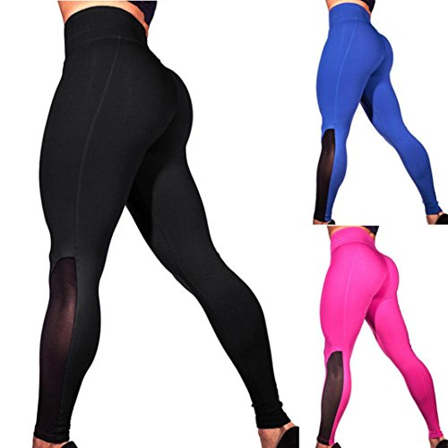 TAORE Leggings Womens Workout Mesh Leggings Fitness Sports Gym Running Yoga Athletic Pants