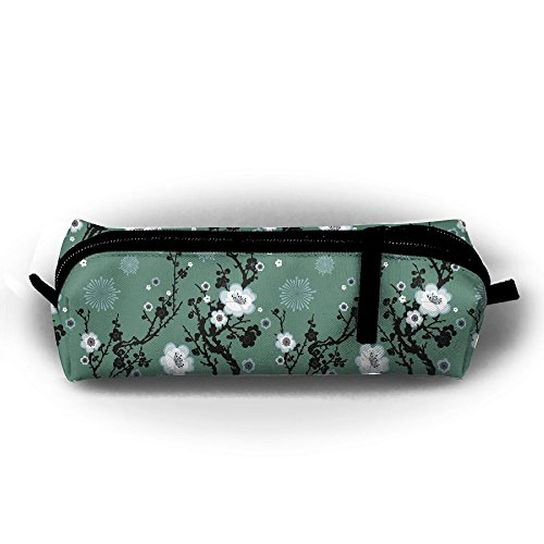 Flowers Figure Ethnic Style Unisex Stationery Pouch Zipper Cosmetic Bags Cylindrical Purse ()