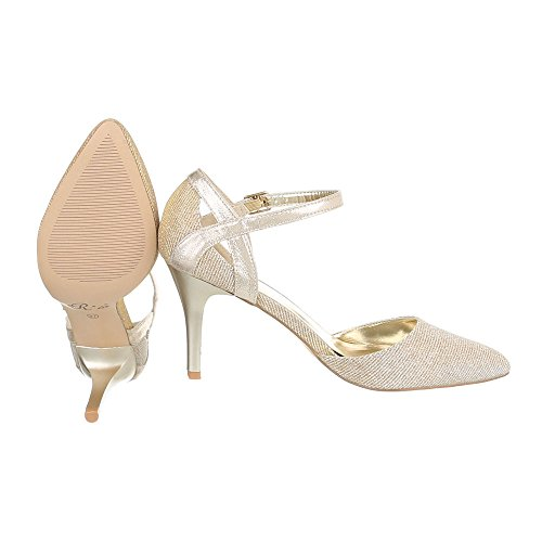 Ital-Design Women's Plateau Gold O9HF3