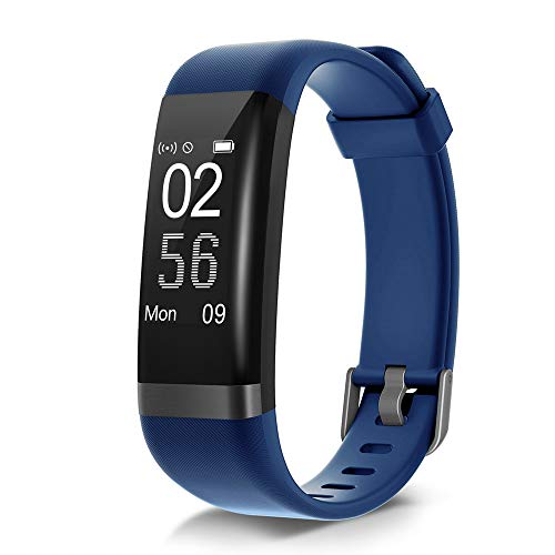 Dare Usb - moreFit Dare Fitness Tracker HR, Activity Tracker Waterproof with Heart Rate Monitor Smart Watch Sleep Monitor Exercise Watches Pedometer Step Counter 14 Sport Modes for Women Men Kids (Blue)