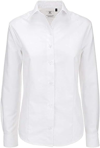 BC Footwear B&C- Camisa de manga larga Oxford para mujer: Amazon.es: Ropa y accesorios