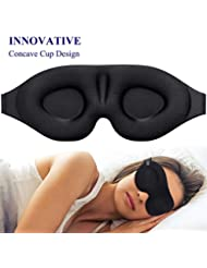Sleep Mask for Women Men, Eye mask for Sleeping 3D Contoured Cup Blindfold, Concave Molded Night Sleep Mask, Block Out Light, Soft Comfort Eye Shade Cover for Yoga Meditation