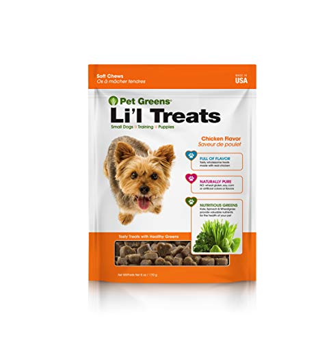 Pet Greens Treats Roasted Chicken Semi-Moist Dog Treat (Best Food For Teacup Yorkie)