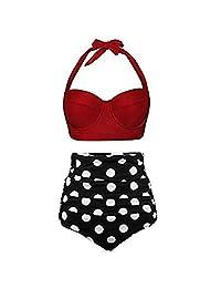 Whitegeese - Conjuntos de Mujeres con Traje de baño y Pantalones Cortos para niños - Traje de baño - Cintura Alta - Trajes de baño de Dos Piezas