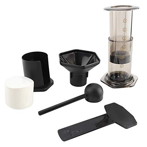 Juego de Cafetera Cafetera Manual Mini Molinillo de Café con Papel de Filtro Máquina para Hacer Espresso Portátil Ideal…