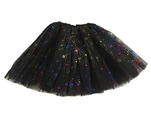 Rush Dance Ballerina Recital Colorful Halloween Space Moon Star Costume (Halloween Costumes For Bigger Girls)