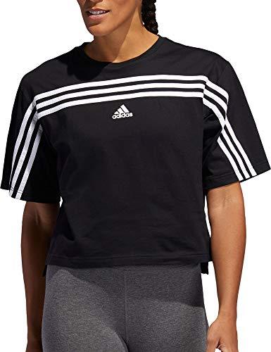 adidas Women's Must Haves Ringer 3-Stipes T-Shirt