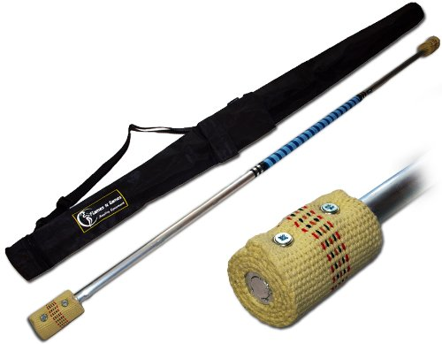 CONTACT Fire Staff - 1.5m (2 x 65mm wicks) by Flames 'N Games + Travel Bag! by Flames N Games Staffs, Fire Staffs, Contact Staffs