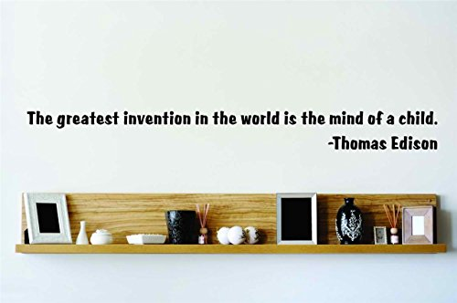 Top Selling Decals - Prices Reduced : The Greatest Invention - Thomas Edison - Insperational Quote - Wall Quote - Stickers - 5x24 Inches - Star 114 - Black (Thomas Edison Best Invention)