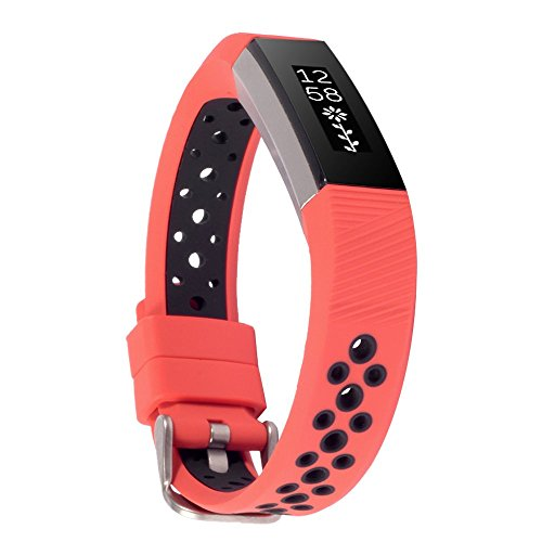 WISHTA Band Compatible with Fitbit Alta/Fitbit Alta HR, 3PCS Newest Colorful Replacement Wristband with Secure Clasps Compatible with Fitbit Alta/Alta HR Only(No Tracker, Replacement Band Only)