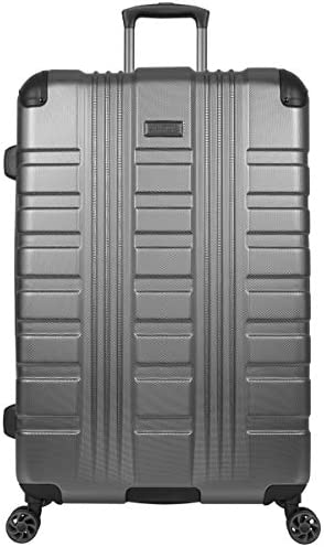 Kenneth Cole Reaction Scott's Corner Hardside Expandable 8-Wheel Spinner TSA Lock Travel Suitcase, Charcoal, 28-inch Checked