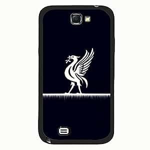 Samsung Galaxy Note 2 Case,Livepool Football Club Logo Protective Phone Case Black Hard Plastic Case Cover For Samsung Galaxy Note 2