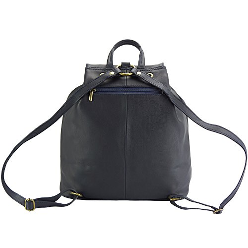 En Becerro De Irene Oscuro Leather Florence Azul 2067 Cuero piel Mochila Market qw1a18I