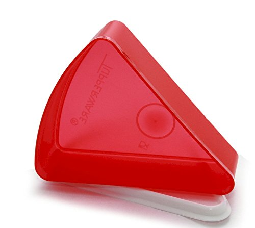 - Tupperware Individual Pie Wedge Storage Container Red with White Seal