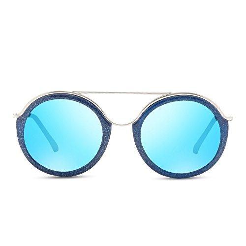 gafas Guía del polarizadas de púrpura rectángulo gafas sol TL UV400 mujer Blue Sunglasses ronda RBnBHp