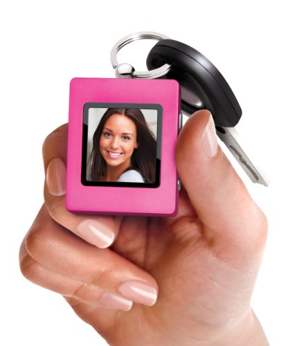 Sharper Image Ultra Slim Digital Photo Keychain, Pink