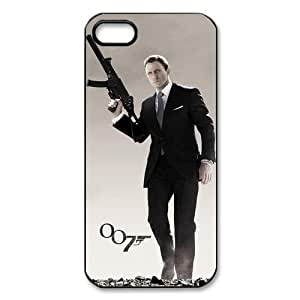 007 James Bond Cool Classic Movie Custom Hard Back Case Cover for iPhone 5 5S