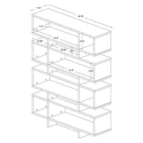 Display/ Storage Shelf Contemporary, Modern Ronan Dark Brown/ Espresso Modern Storage Shelf - Assembly Required FP-8DS-Shelf (3A). 70.25 in High x 44 in Wide x 11 in Long