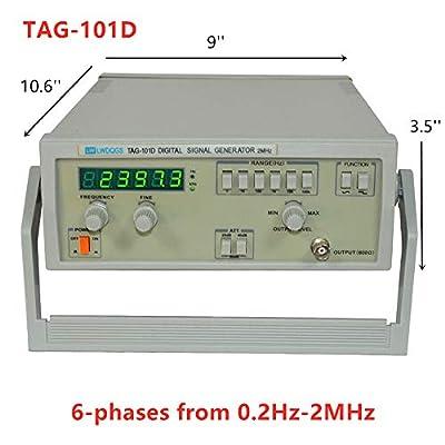 HYYKJ Signal Generator TAG-101D 5V 600? Digital Function Signal Generator Full Set 6 Phases 0.2Hz~2MHz 60dB Arbitrary Waveform Signal Generator Frequency Meter