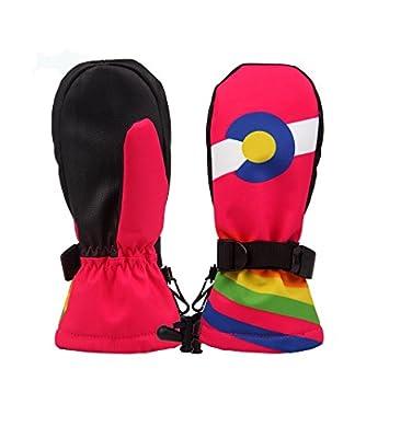 TOFERN Kids Winter Warm Gloves Boys Girls Outdoor Sports Snow Ski Snowboard Mittens Waterproof Windproof