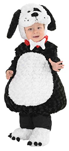 Puppy Belly Baby Costume (UHC Belly Baby's Puppy Outfit Toddler Kids Fancy Dress Halloween Costume, L (2T-4T))