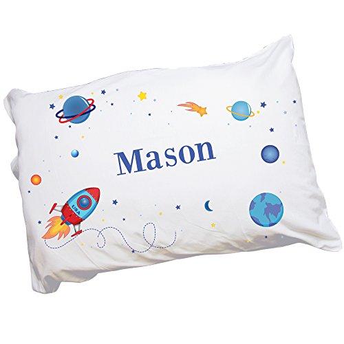 MyBambino Personalized Rocket Pillowcase for Kids
