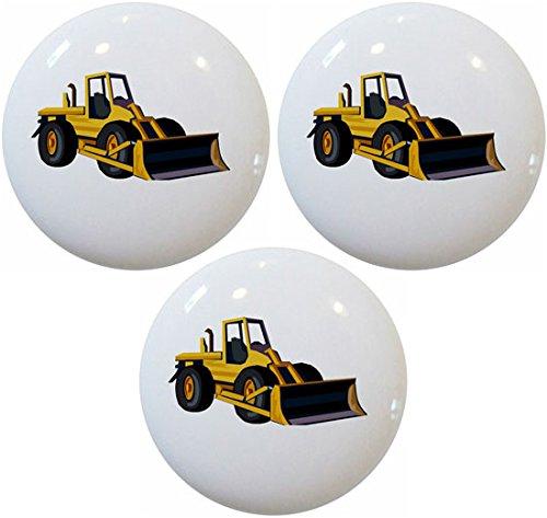 Bulldozer Knob (Bulldozer Ceramic Cabinet Drawer Pulls Knobs (Set of 3 Knobs))