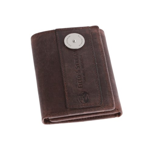 Distressed Tri Fold - Field & Stream Men's Ogden Leather RFID Trifold Wallet (Brown)