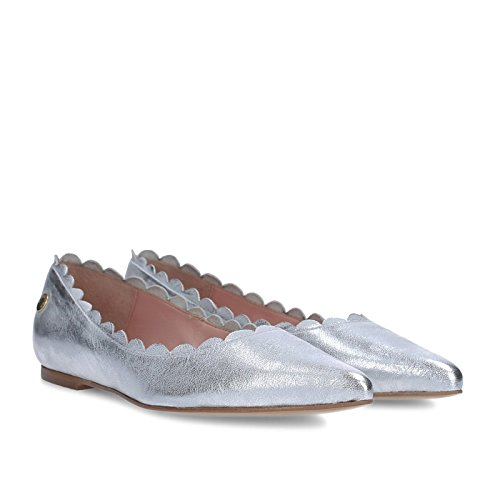 Gretchen Ahorn Frilled Ballerina Sølv UjrWApKG9