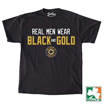 Amazon.com: Real Men Wear Black and Gold Shirt: Clothing