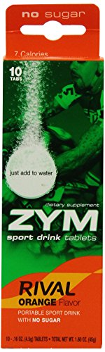 ZYM Rival Electrolyte Drink Tabs, Orange, 0.16 Ounce, 10 Count