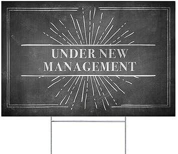 30x20 Under New Management CGSignLab Nostalgia Burst Window Cling 5-Pack